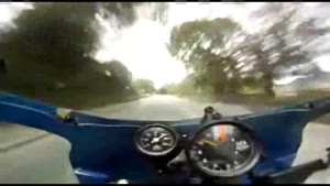 Biker Rides Through Fireball At Manx Grand Prix