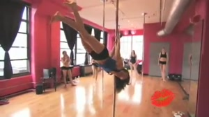 Pole Dancer Walks In The Air