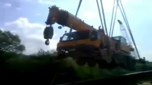 Construction Crew Drops Crane