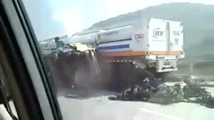 Double Truck Accident