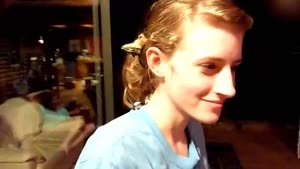 Squirrel Sleeping In Girls Hair
