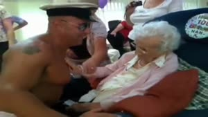 Granny Get's A Stripper On Her One Hundredth Birthday