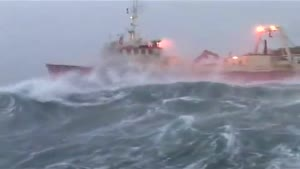 Ship Battles Violent Sea