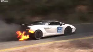 Lamborghini Gallardo Wins Race While On Fire