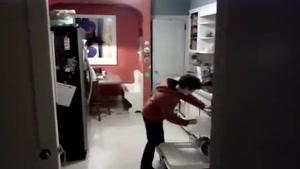 Kid Has Fun Doing Chores