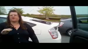 Woman Freaks Out About Diesel Truck