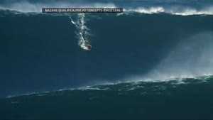 Surfer Rides 90 Foot Wave