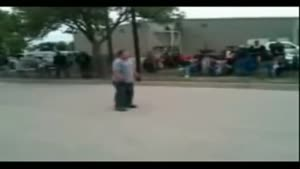 Fatty Tries Jumping Over A Motorcycle