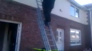 Safety Ladder Demonstration Goes Wrong