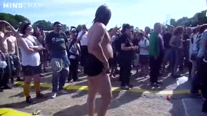 Idiot Going Crazy At A Rock Concert