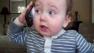 Baby Imitates Phone Conversation