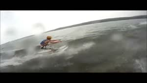 Water Skier Escapes Lightning
