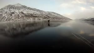 Playing Ice Hockey On A Frozen Lake