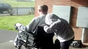 Wheelchair Wheelie Gone Bad