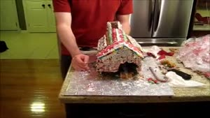 Gingerbread House Turns Into Transformer
