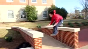 Girl Tries Parkour