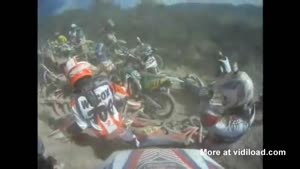 Major Dirt Bike Pile Up