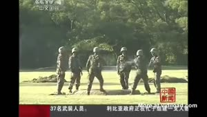 Chinese Soldiers Play With Granate