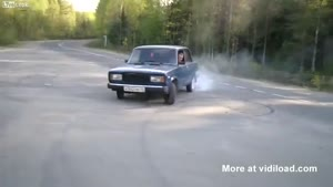 Lada Burnout Fail