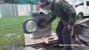 Self Destruction Of A Washing Machine