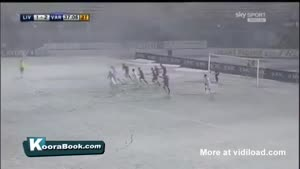 Playing Soccer In A Snow Storm