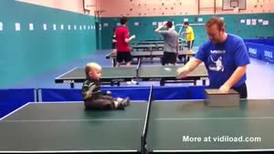 Baby Is A Table Tennis Talent