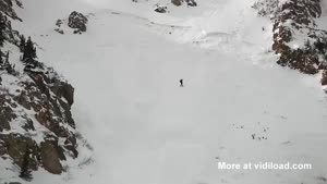 Snowboarding Girl Get's Caught In An Avalanche