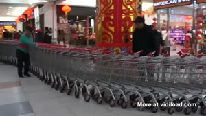 Extremely Long Shopping Cart Snake In China