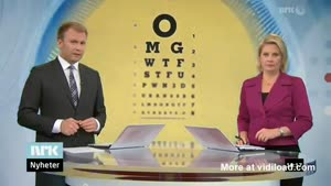 Special Eye Test On Swedish TV