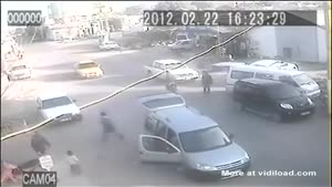 Children Fall From Car