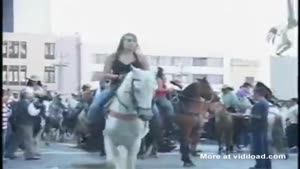 Chick Thrown Off Horse