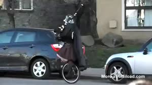 Darth Vader Takes The Unicycle