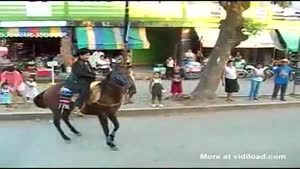 Horse Refuses To Co-operate In A Parade