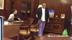 Angry Man Goes Crazy In Furniture Store