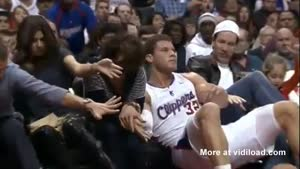 NBA Player Crashes Into Fans