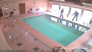 Boss Slips And Falls In The Pool