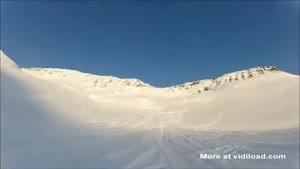 Snow Mobile Riders Get In Trouble With An Avalanche