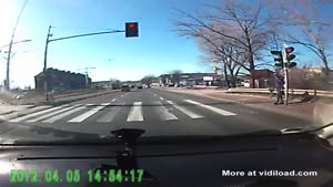 Pedestrian Nearly Gets Run Over