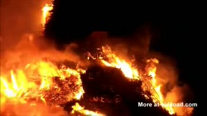 Biggest Easter Fire Ever Collapses