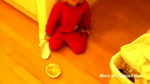 Toddler Lifts Extremely Heavy Plate