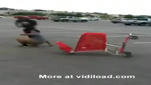 Shopping Trolley Stunt Gone Wrong