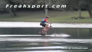 Riding A Bicycle On The Water