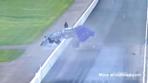 Dragster Crashes Into Camera