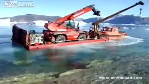 Transporting A Crane Over The Lake