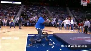 Fat Guy Half Time Dunk Goes Wrong
