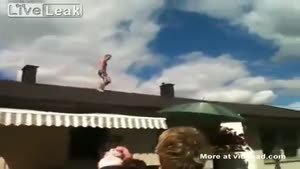 Using The Roof As Diving Board