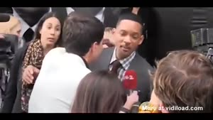 Reporter Kisses Will Smith On The Lips
