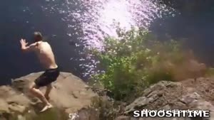 Big Cliff Jump Gone Wrong