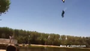 Dirt Bike Stunt Turns Into Big Accident