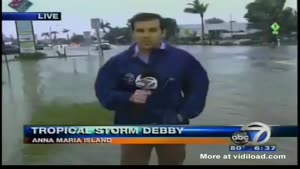 News Reporter Gets Soaked